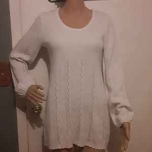 Cato cream and silver oversized sweater , tunic